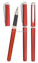 Silicone promotional gel pen red color roller gel pen