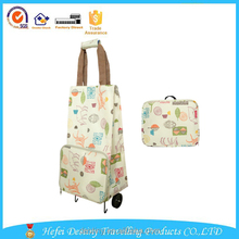 new products 2015 innovative product oem priting polyester folding shopping bag with roller