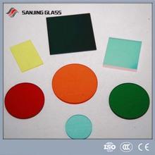 3-19mm Round Print Tempered Glass