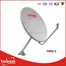 75cm KU band satellite dish antenna receiver