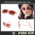 2014 nueva cosecha gafas de sol de color rosa hermoso gato forma de los ojos gafas de sol de réplica