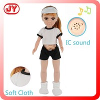 2015 New wholesale nice plastic real 18 inch love doll with american girl doll clothes little girl love doll