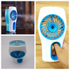 Lithium battery operated water spray fan type mini electric fans with water spray