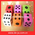 venta al por mayor de plástico eva juguetes personalizados dados pequeños colorido cubo de dados de eva