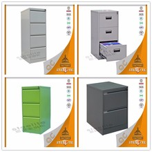 metal office furniture 4 drawer cabinet / four drawer vertical steel filing cabinet / office furniture steel drawers