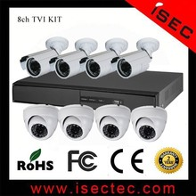 Outdoor HD TVI Security CCTV camera, Waterproof long distance, 8 channel cctv camera system