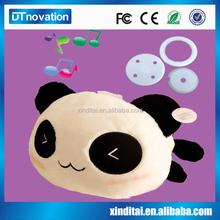 Hot sale stuffed big eyes animal panda plush toy with music