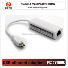 wired micro usb to ethernet network adapter