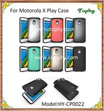 For Motorola X Play Shatterproof Aegis Armor Case Cover 2 in 1 Multi-Function Hybrid Combo