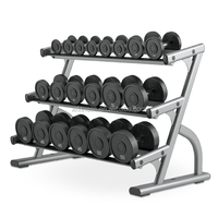 gym rack type 3-tier dumbbell rack / dumbbell storage rack