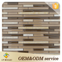 Promotinal Latest Glass Mix Stone Mosaic Kitchen Wall Tile Designs