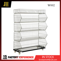 Galvanized Finish Chrome Promotion Wire Cage