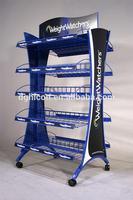 Flooring metal weight watchers display shelf