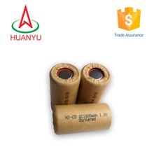 electric torch battery power tools battery 1.2VSC 1800mAh Ni-CD rechargeable battery