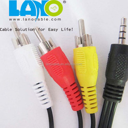 China factory support new popular brand 3.5mm rca to rca audio cable