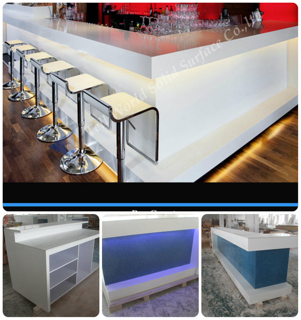 Website fashion design hotel bar counter free standing for Free standing bar plans