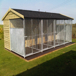 10x10x6ft outdoor chain link large dog kennels for sale/galvanized steel dog kennel