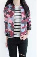 long sleeve women high quality camo jacket