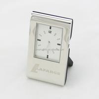 Promotional metal executive desk clock