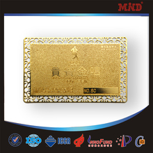 MDC1344 Hot selling elegant golden Metal Business Card high fashion good price