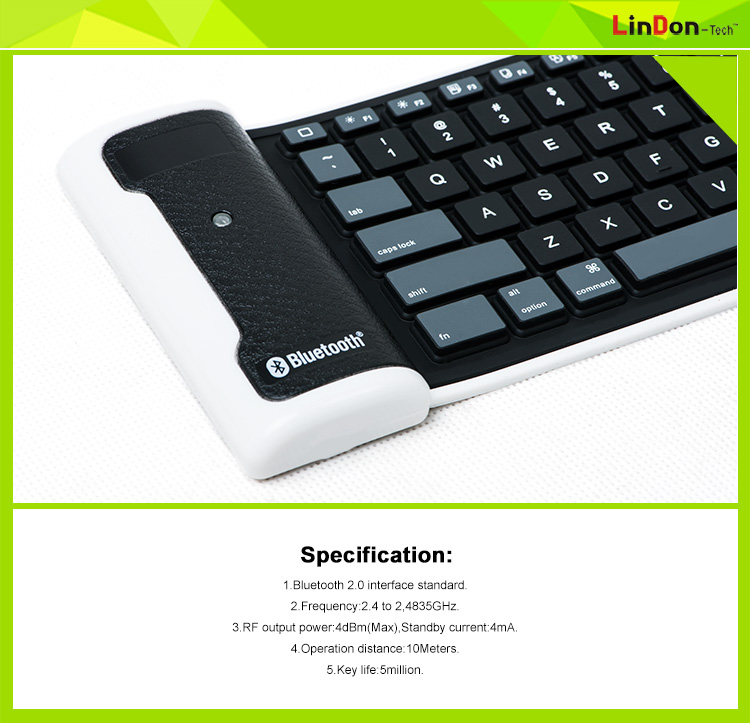 China Shenzhen Hot Sell for ipad mini rubber bluetooth keyboard BK6113