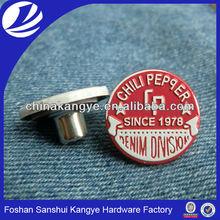 2015 Factory sale custom make button,alloy button J-501