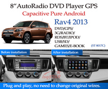 Wholesale pure android 4.4 toyota rav4 2013 car radio gps with DVD BT Radio GPS 3G Wifi android! good quality!