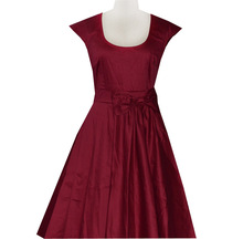 Walson Vintage Style Tea Dress 14 Wedding Races Party Rockabilly 1950's Red Roses