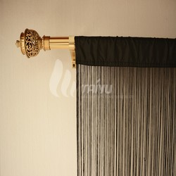 Black out indian window string curtains
