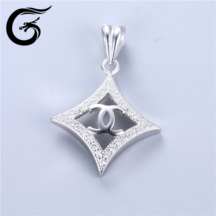 sterling silver pendant blanks silver 925 jewelry charm