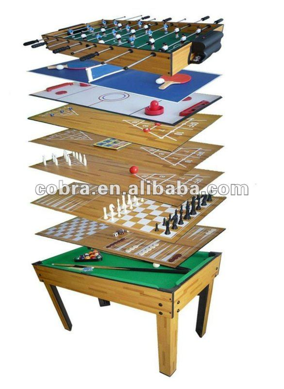 Combination 10 in 1 multi game table for kids buy 10 in for 10 in one games table