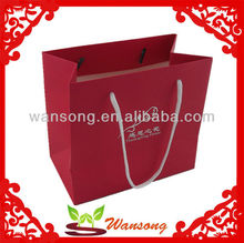 Custom cheap brown paper bags with handles,craft paper bag with new design