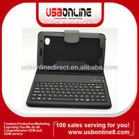 """Hotselling Bluetooth keyboard for samsung 7"""" galaxy tab with folding leather protective case"""