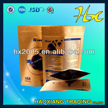 brown /kraft paper bag wibag with ziplock clear plastic bag high quality for food packing fruit /dry food /sugar meat/beef