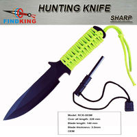 2013 hot selling fixed blade hunting knife with ignition bar