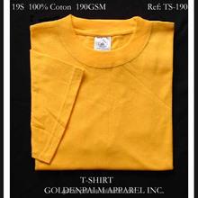 Yellow t shirt for men, 100% cotton printed t shirt,Men clothing