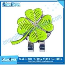 Lucky clover magnetic ball marker golf hat clip