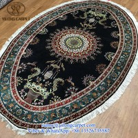 quality 5x8ft handknotted handamde oriental persian oval table chinese silk rugs on sale