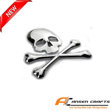 3D Skull Metal Auto Styling Car Badges Emblems