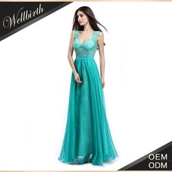 hot sexy fast delivery strap teal color long gown