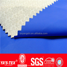 Raning day waterproof nylon taffeta white PU coating printed light jacket fabric