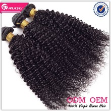 Hot selling bleachable unprocessed afro jerry curl hair weave