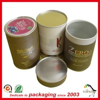 Hot Sale Cylindrical fashion paper box hair packaging tube with Custom printing