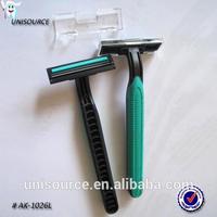 Single or double blade travel single use shave razors