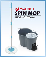 Wholesale hurricane spin mop with stainless steel and basket microfiber head