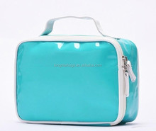 PVC cosmetic bag with flap wash bag both for women&men toilet bag