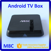 Quad core M8C android tv box s812 chipset support 4k and H.265
