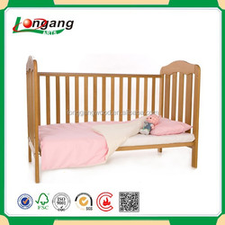 varnish wood baby cot baby bed
