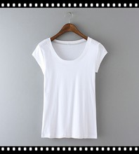 Fashion Summer Promotional Cheap Women Plain T Shirts