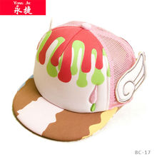 china wholesale flat hat with wings baby fitted caps